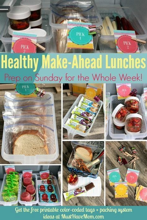 amp easy tips to pack a healthy lunch everyday! Make ahead lunches and label... , Quick amp easy tips