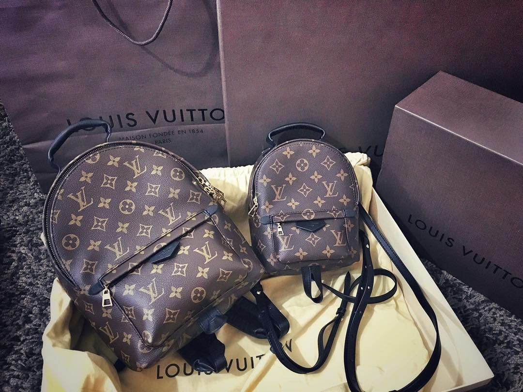 be925b0f0a76 Louis Vuitton Palm Springs backpack size comparison MM vs. MINI ...