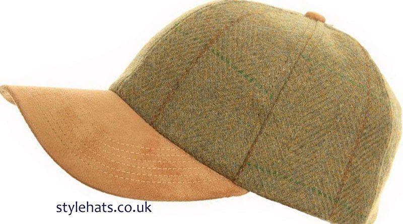 08bf50e56e4 Men s Hat Tweed Baseball Cap 100% Wool Hawkins