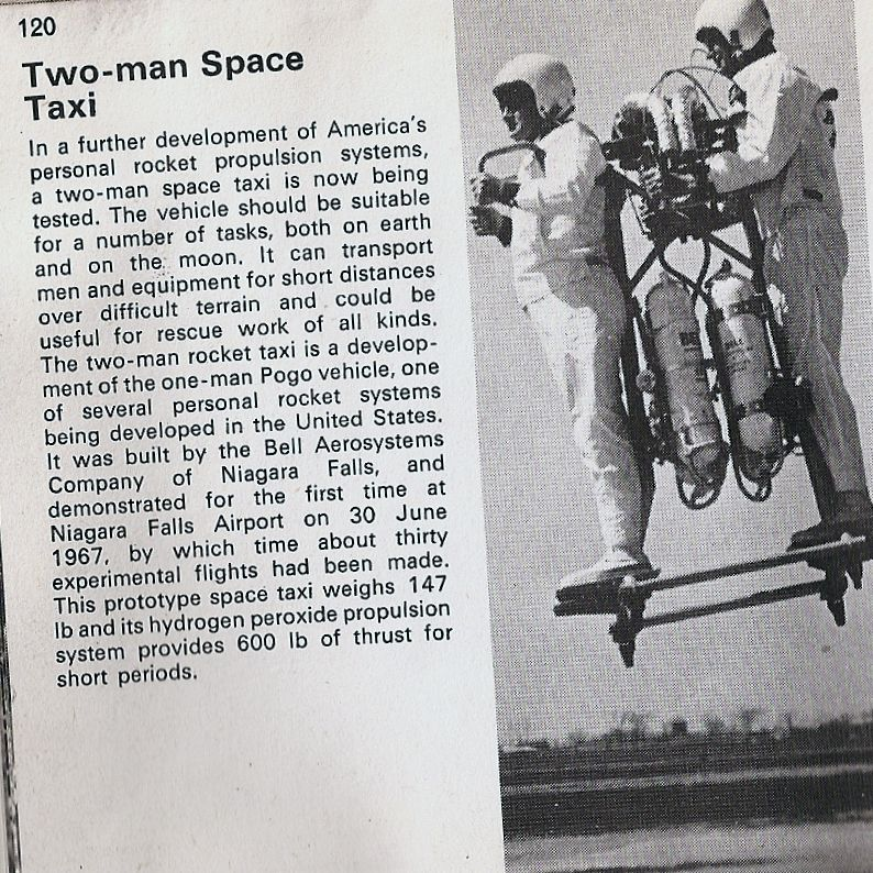 Two-man Space Taxi, from the Handbook of Unusual Vehicles