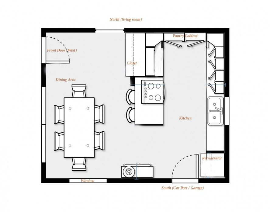 Kitchen Dining Room Design Layout Exterior