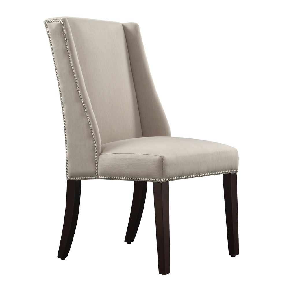 INSPIRE Q Geneva Grey Fabric Wingback Hostess Chairs (Set of 2) | Overstock