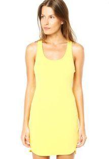 Vestido Colcci Slim Style Amarelo