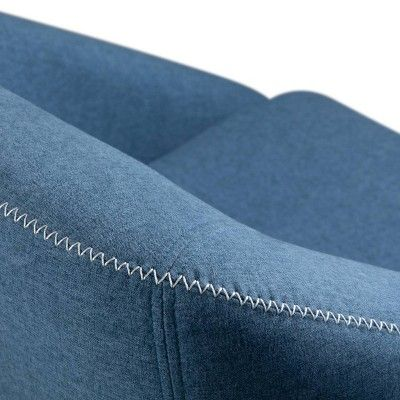 Best Ennis Mid Century Accent Chair Denim Blue Wyndenhall 400 x 300