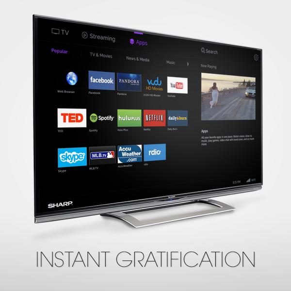 SharpAQUOS on Smart TV Smart TV, Television, User