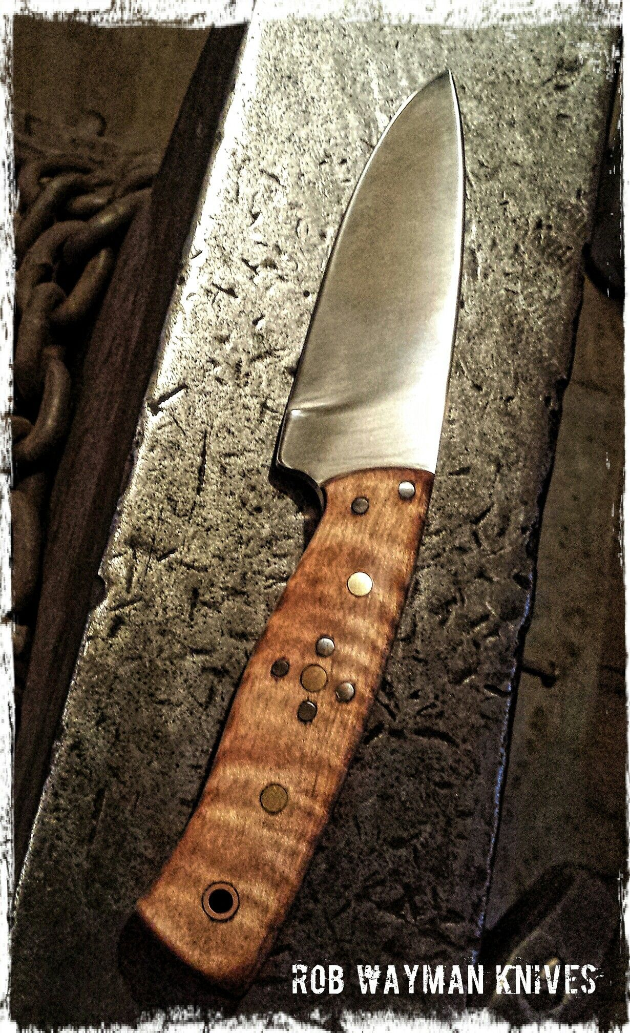 Hand Forged 1084 Drop Point Hunter By Rob Wayman Knives Facas Canivetes