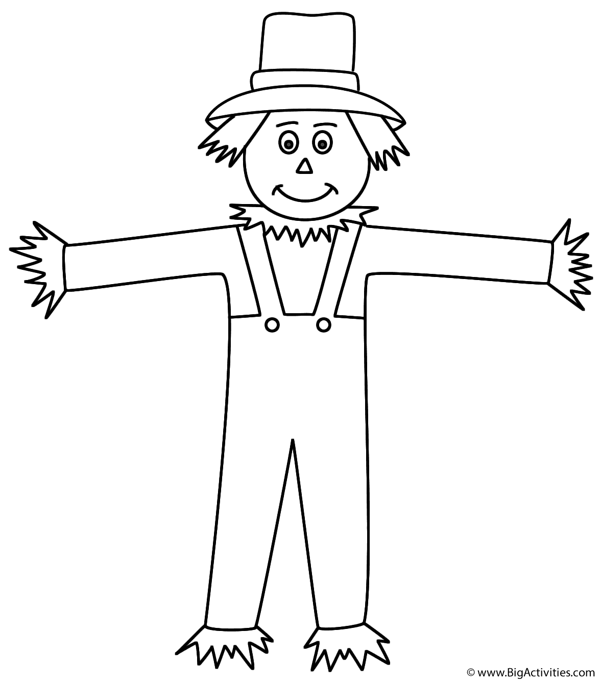 Scarecrow Coloring Sheets | Scarecrow coloring pages free ...