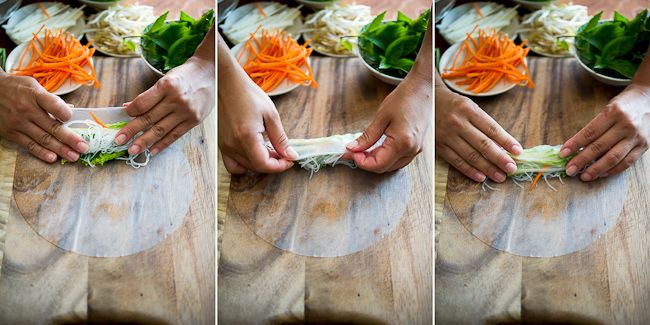 How to Roll Spring Rolls/ White on Rice