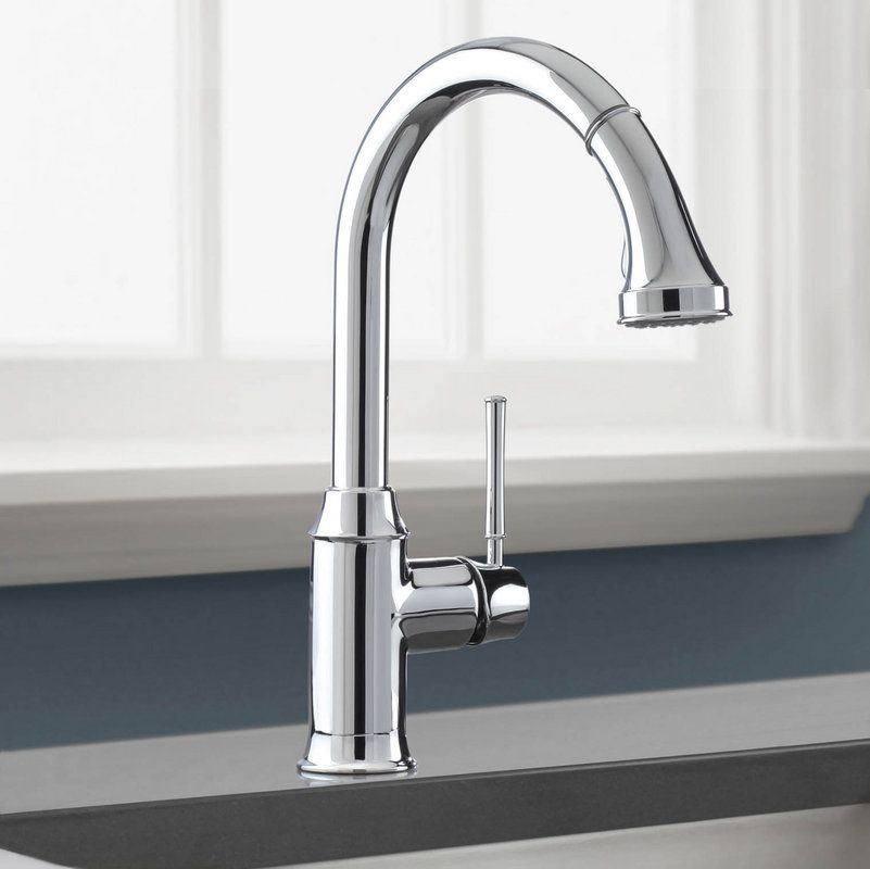 Hansgrohe 04215 Talis C Pull-Down Kitchen Faucet with HighArc Spout ...