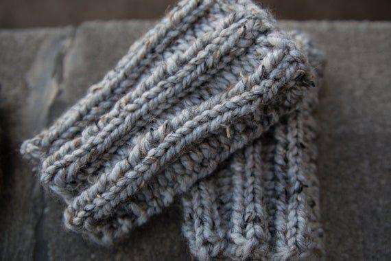 Marble Gray Boot Cuffs - Knitted Boot Cuffs - Legwarmers - Half Sock - Grey - Women - Teen Girls #bootcuffs