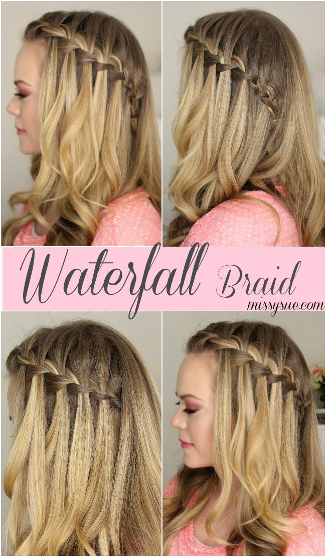 How To Do A Waterfall Braid Hair Styles Diy Hairstyles