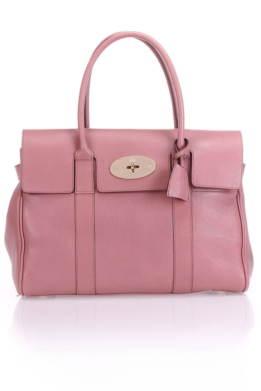 7410f1694280 Mulberry Bayswater Glossy Goat Shoulder Bag in Dark Blush