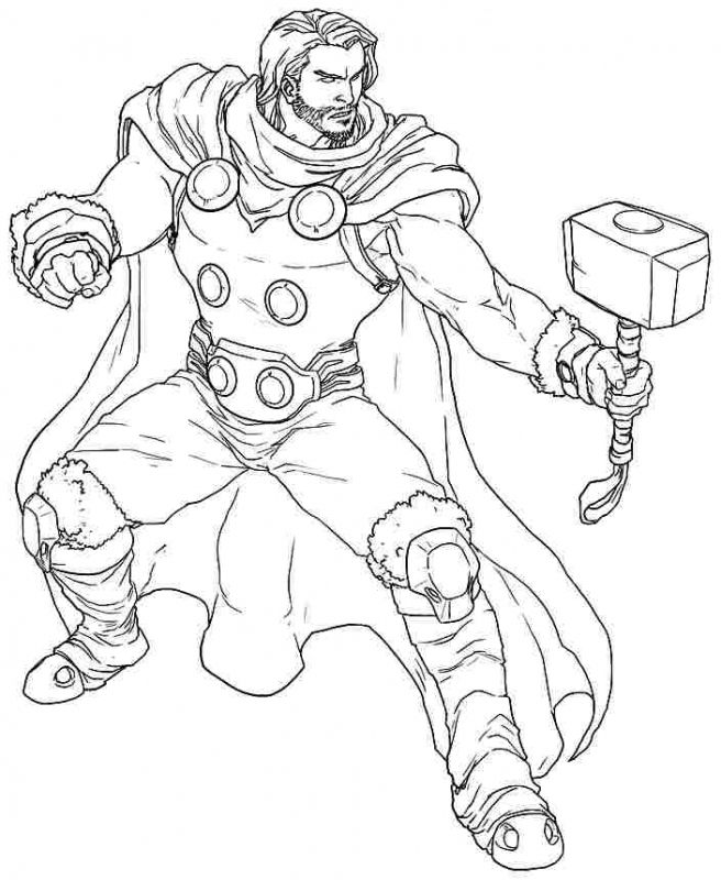 thor of asgard coloring pages  superheroes coloring pages