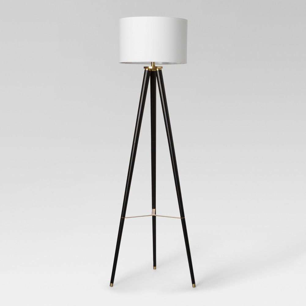 Delavan Tripod Floor Lamp Black Includes Energy Efficient