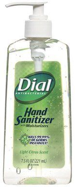 Dial Antibacterial Hand Sanitizer With Moisturizers Light Citrus
