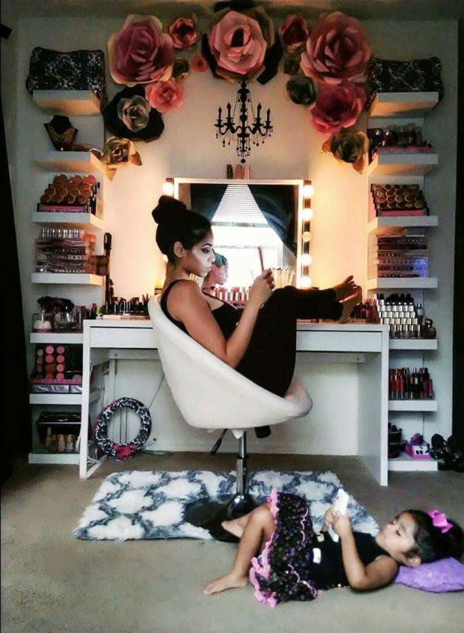 Like Mother; Like Daughter like mother; like daughter Makeup Diy Crafts diy makeup vanity projects