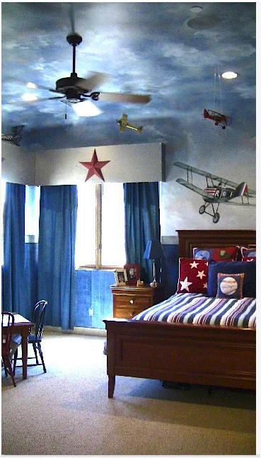 Airplane Bedroom Decor: An Airplane Lover's Dream Room. Carmen Illustrates