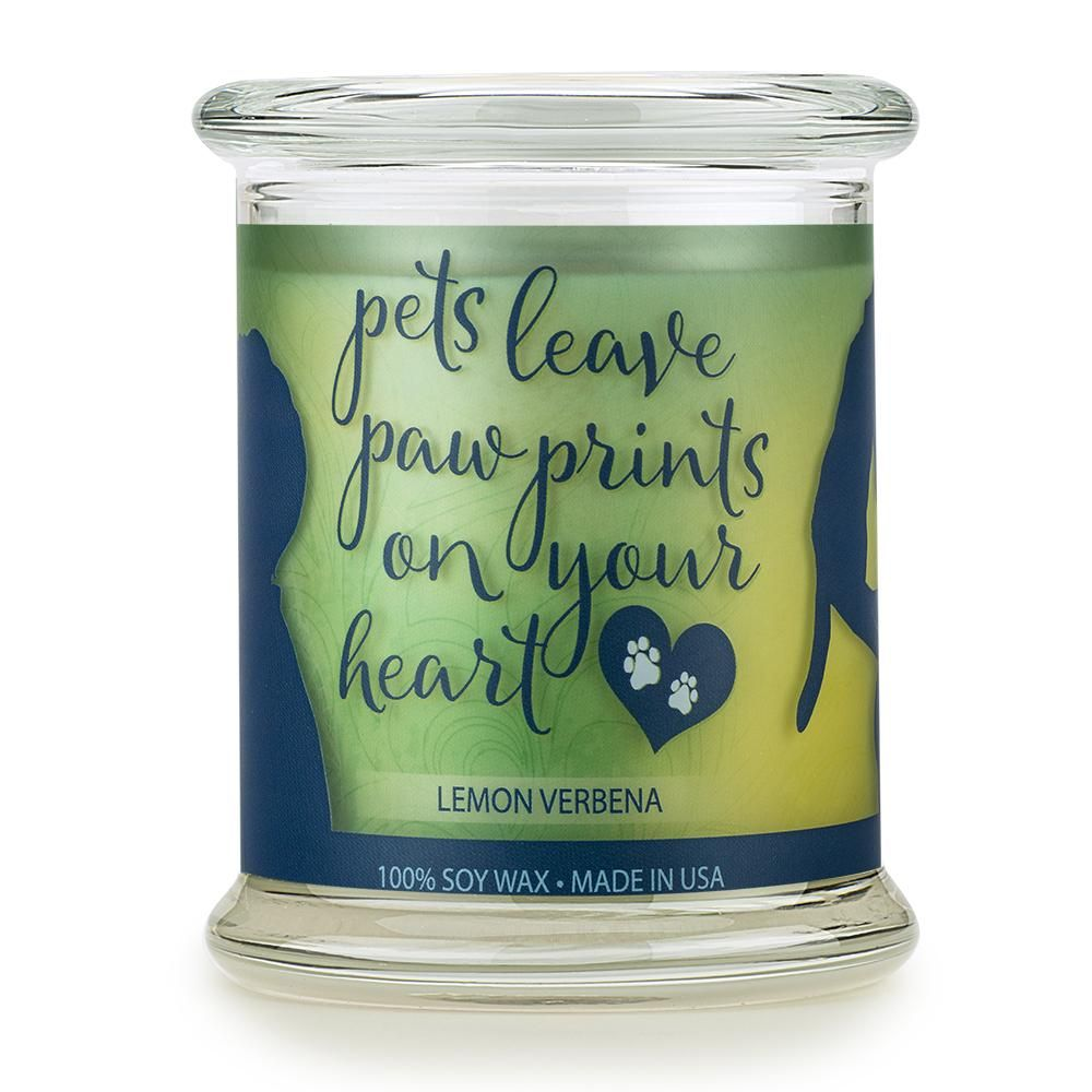 Lemon Verbena Pet House Sentiments Candle 100 Natural Soy Wax Lemon Verbena Natural Soy Wax Home Candles