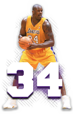 Retired Numbers The Official Site Of The Los Angeles Lakers Shaquille O Neal Best Nba Players Lakers