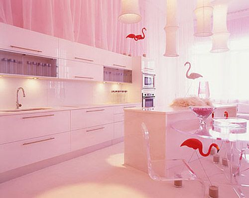 Pink Flamingo Inspired Home/Kitchen