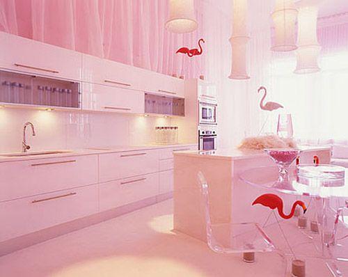 Flamingo Kitchen Kitchens And Pink Designsrhpinterest: Pink Kitchen Decor At Home Improvement Advice