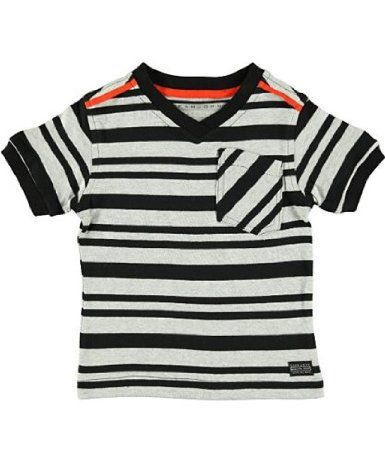"Sean John ""Engineered Stripe"" V-Neck T-Shirt (Sizes 12M - 24M): Amazon.com: Clothing"