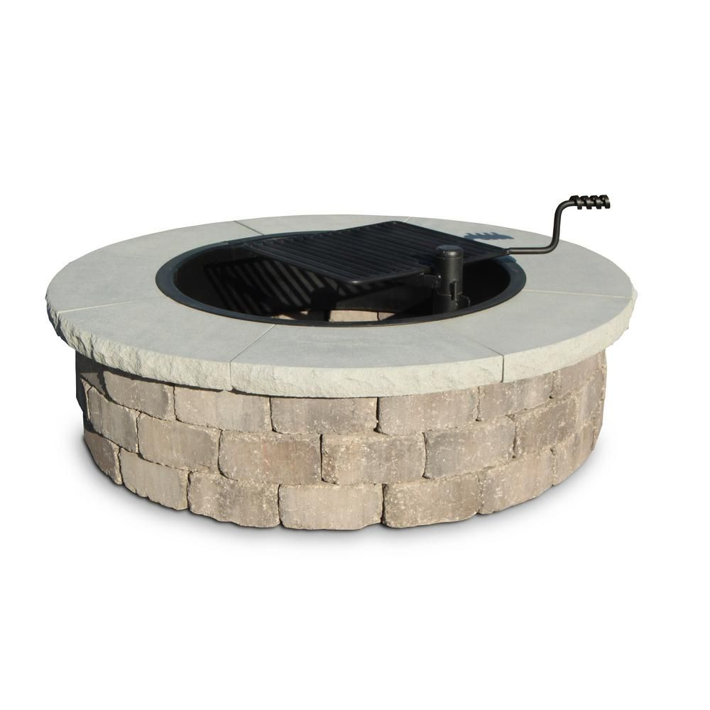 52 in. Grand Fire Pit Chiseled Cap | Backyard, Patios and Fire ring
