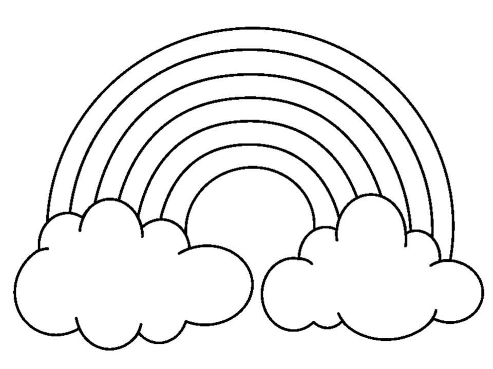 Coloring Pages Rainbow : Rainbow coloring pages with color words free