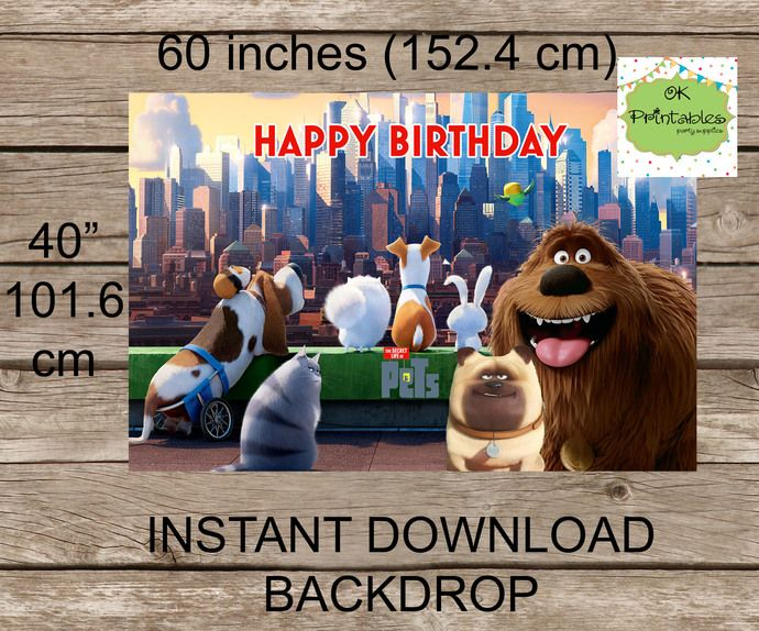 Secret Life Of Pets Backdrop Printable Digital File Pets Birthday Secret Life Of Pets Background Instant