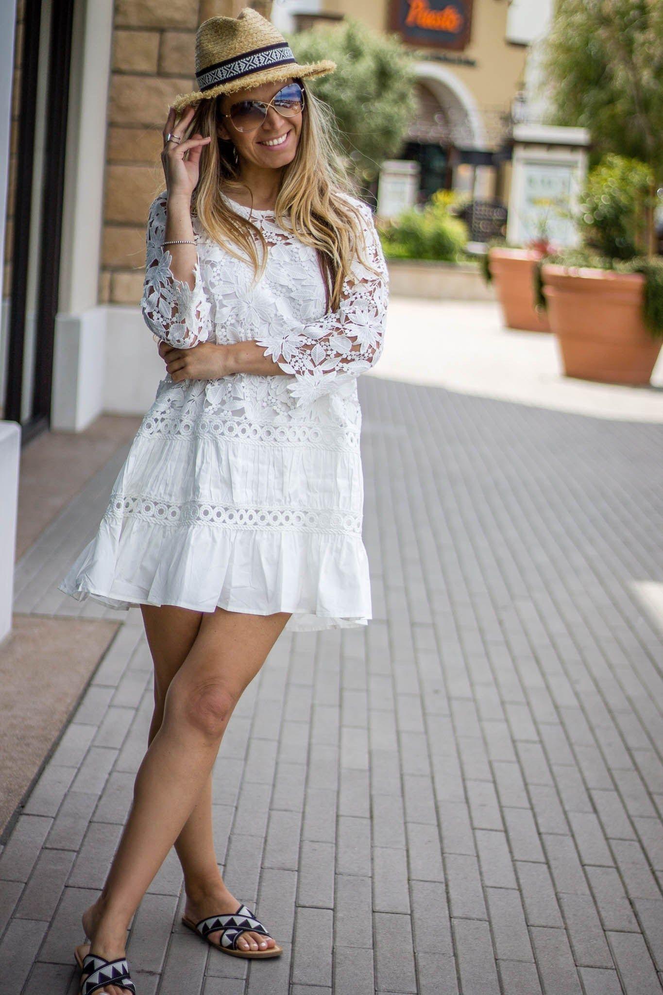 Summer MustHave White Crochet Dress White crochet