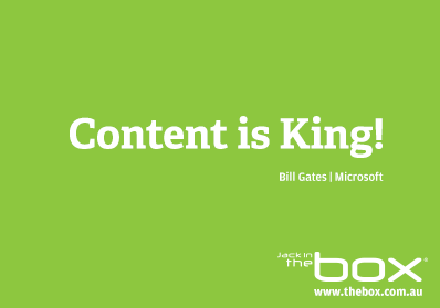 bill gates essay content is king The expression 'content is king' has become a mantra, which is now used widely by millions of people in january 1996, bill gates wrote an essay titled 'content is king', which was .