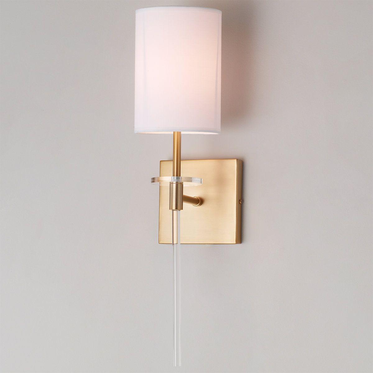 Acrylic Bobeche Sconce 1 Light In 2020 Sconces Brass