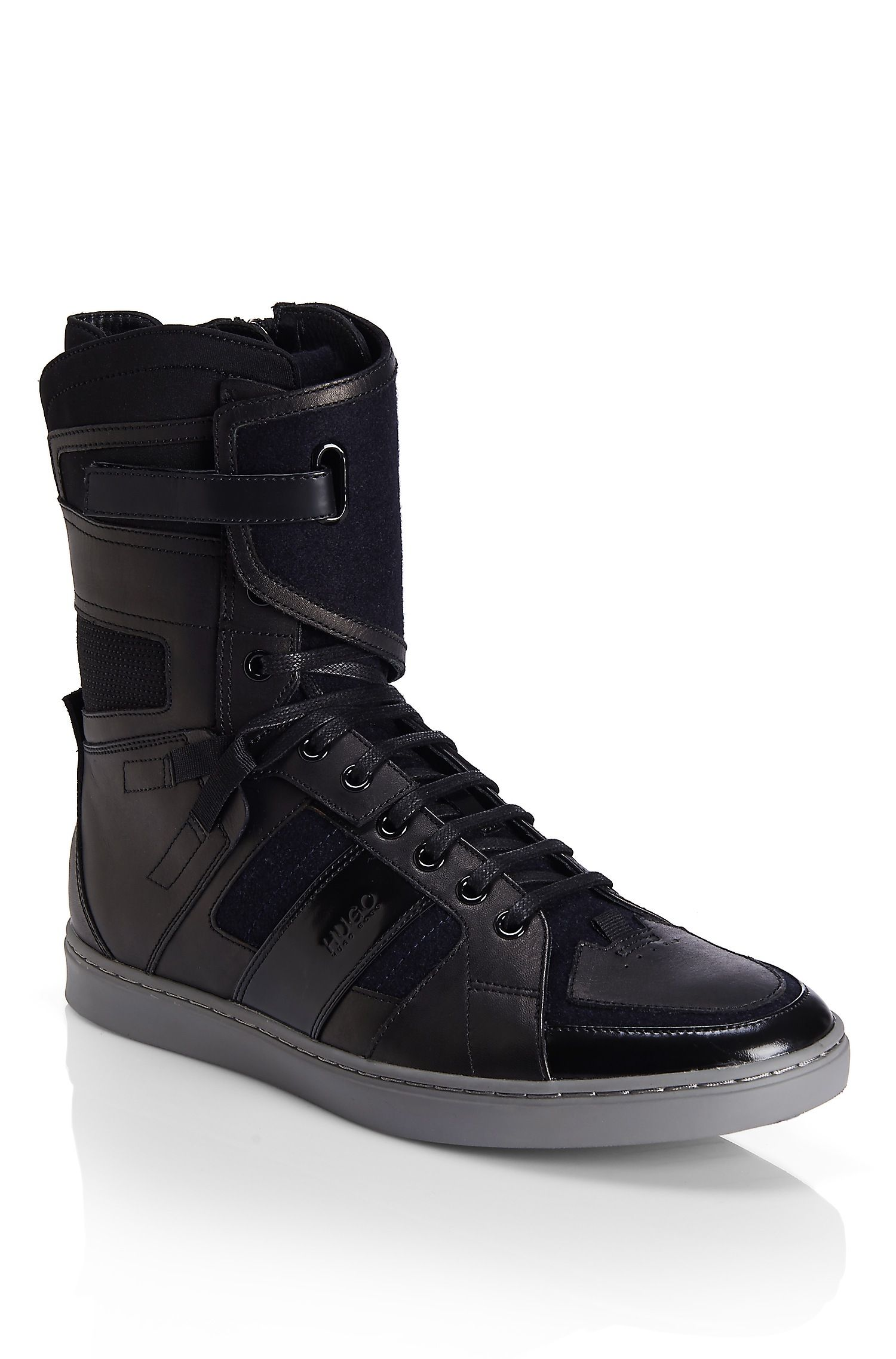 2e6c80fe91ca0a Raion'   Leather Blend Hightop Sneakers by HUGO   Happy feet ...