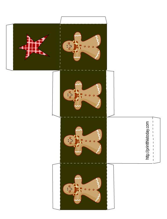 Free Printable Christmas Box Template Packaging Ideas Christmas