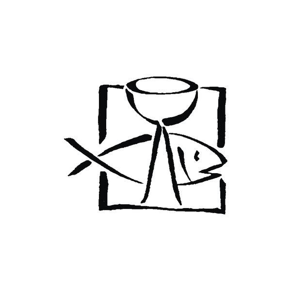 H.- Stempel Fisch+Kelch, 3,2cm ø, Art. 28902 von eckstein-kreativ Materialshop auf DaWanda.com