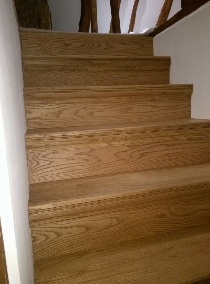 Oak clad stairs #renovation