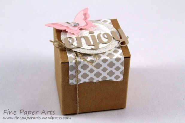 Stampin' up! Mini-Geschenkschachteln, Tiny Treat Boxes, DSP Trau Dich, DSP Something Borrowed - Fine Paper Arts