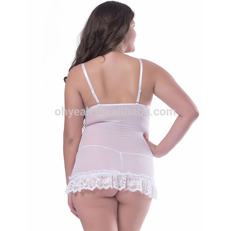 see Fat women through lingerie in