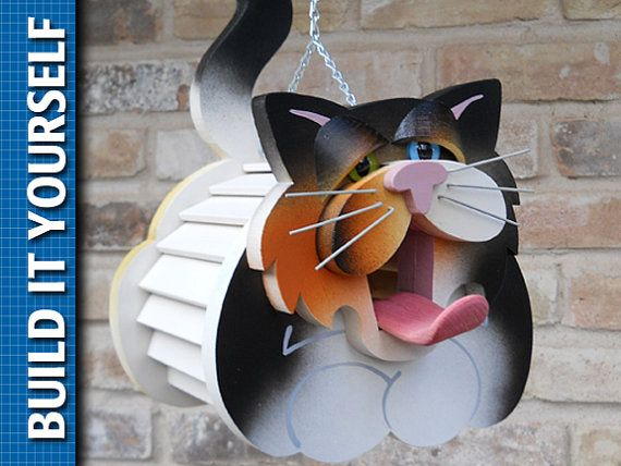 Cat Birdhouse 3 Page Plan With Templates For The Home