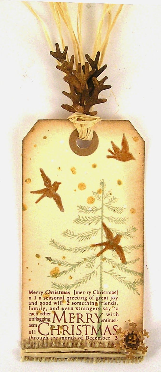 Suzz's Stamping Spot, Birds, Tag, Christmas, Nature, Christmas, Day 2, Hero Arts, B-Line, Sizzix,