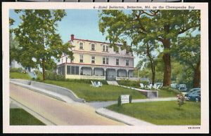 Chesapeake Beach Maryland Md Hotel Bay Vintage Postcard Early Old Pc