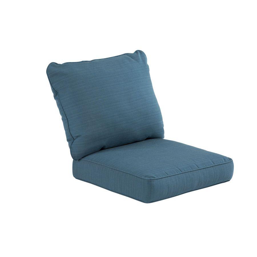 Allen Roth Sunbrella 2 Piece Deep Sea Deep Seat Patio Chair Cushion Lowes Com Patio Seat Cushions Clearance Patio Furniture Patio Chair Cushions