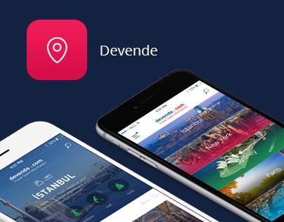 """다음 @Behance 프로젝트 확인: """"Devende App"""" https://www.behance.net/gallery/44088967/Devende-App"""