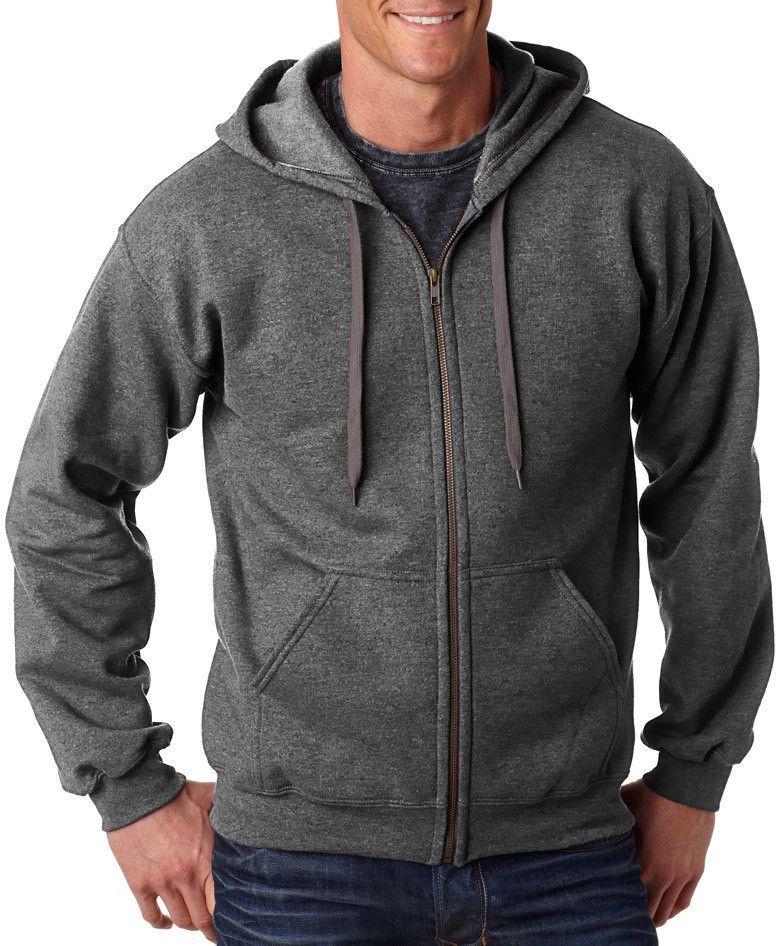 gildan(R) heavy blend? adult vintage full-zip hooded sweatshirt - tweed (m)