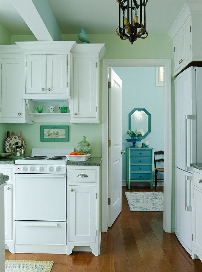 kitchen paint color is gratifying green from sherwin on lake cottage colors id=68404