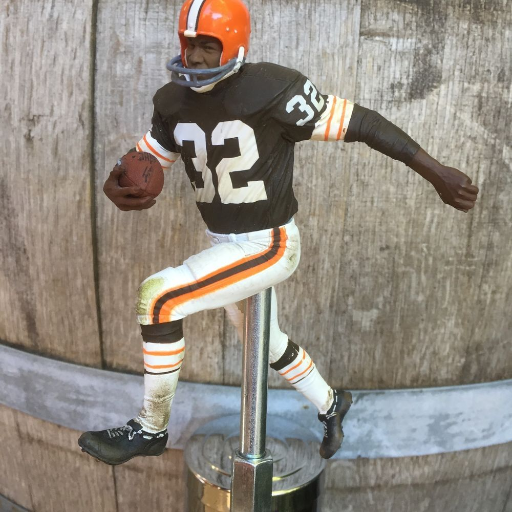 Cheap CLEVELAND BROWNS Tap Handle Jim Brown Beer Keg Brown Jersey 32 NFL  for cheap