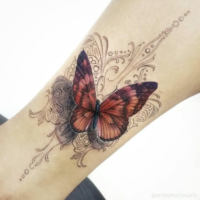 411ef09a5 Butterfly, mandala, tattoo | Butterfly Tattoos | Butterfly mandala ...