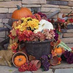 autumn porch decorating ideas see our fall decorating directory for oodles more autumn ideas - Fall Harvest Decor