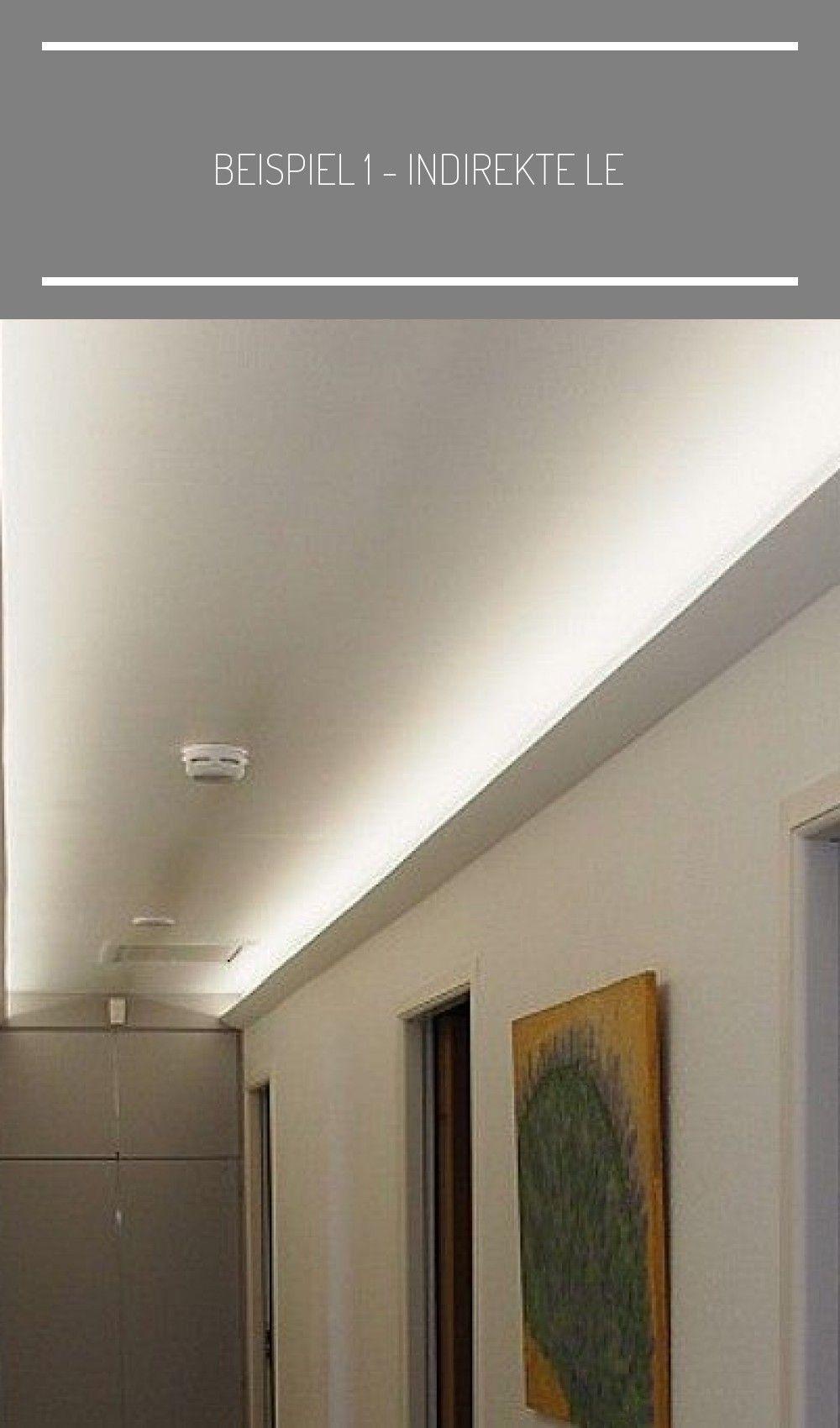 Beispiel 1 Indirekte Led Beleuchtung Der Decke Im Gang Bzw Flur Mit Dem Licht In 2020 Beleuchtung Led Beleuchtung Led Seilsystem