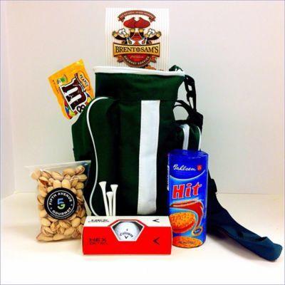 Hit Em' Straight Golf Bag Cooler with Snacks